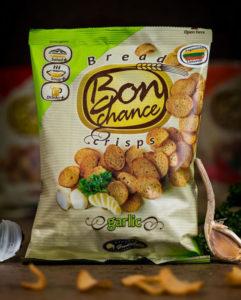 Chipsy chlebowe - czosnek