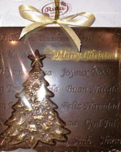 świąteczna choinka Ruta z czekolady