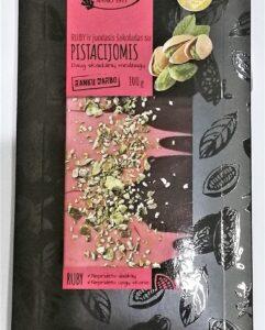 Czekolada Ruby czarna z pistacjami